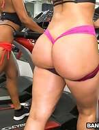 We've a spectacular Assparade update for the viewers. No thing but rump all over the screen. Arianna Knight,  Bianca and Valerie Kay get jointly to for a good workout. Shaping up these tight asses of theirs, sweating up a storm. Looking hawt as fuck. Then the studs walk in horny willing for action. Next thing you know, there s a huge fuckfest going on. Insane! This is a must see. Enjoy.