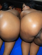 These two irresistible big booty black hoes get fucked every which way you can imagine.