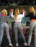 Sexy legal age teenagers in yoga pants! Yoga panties are a sort of flexible, form-fitting panties designed for the practice of yoga as well as other activities that involve tons of movement, bending and stretching. Some of the other activities include: martial arts, dancing, Pilates, aerobics, etc. Those panties are generally made of cotton, spandex, nylon, polyester or a light and stretchy synthetic material. They are usually tight-fitted, colored black, and have an elastic waistband folded over at the top. Although designed specifically for yoga, the panties are too casually worn by women in every single day life! It's a ridiculously particular web site dedicated to the gals who wear yoga pants! That's right. Come watch the Good, the Bad, and the Unsightly shake what their mommas gave 'em