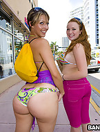 Kelsey Michaels and Alina Aldamen's Lucky fat ass Shopper [4 ass pics]