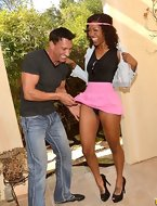 Chocolate queen Lotus Laine loves whit dick and getting covered with hot and gooey jizz