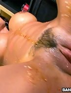 This BigTitsRoundAsses update features the very sexy European babe, Franceska Jaimes. She has giant bumpers and a plump moist ass. This update receives a bit messy. We bring out some chocolate syrup and sprinkles for that ass. Drizzling it all over her big bumpers and moist pussy. Then Alberto Blanco steps in and licks her all over. Sending Franceska into a frenzy, engulfing that slit while she bangs herself with a dildo. After cleaning her up a bit, Alberto copulates Franceska from all angles. Pounding that slit right. Don t miss out. Enjoy. [12 ass pics]